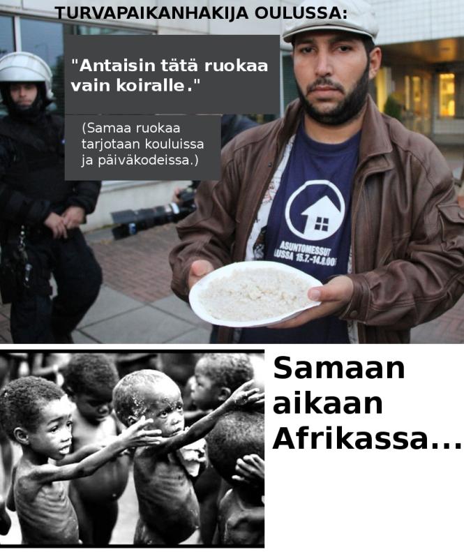 Afrikan lapset ja Oulun pakolaiset
